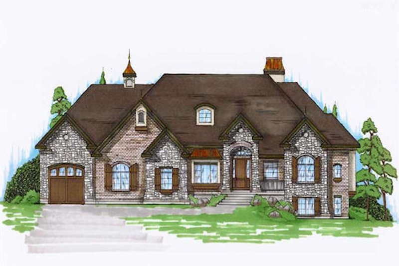 European Exterior - Front Elevation Plan #5-278