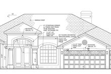 Mediterranean Exterior - Front Elevation Plan #1058-46