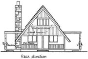 Contemporary Style House Plan - 3 Beds 2 Baths 1274 Sq/Ft Plan #12-111 Exterior - Rear Elevation