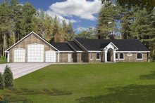 Home Plan - Traditional Exterior - Front Elevation Plan #117-831
