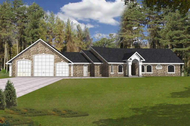 Traditional Exterior - Front Elevation Plan #117-831 - Houseplans.com