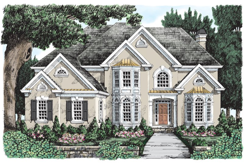 Mediterranean Exterior - Front Elevation Plan #927-476