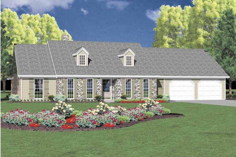 Colonial Exterior - Front Elevation Plan #36-562 - Houseplans.com