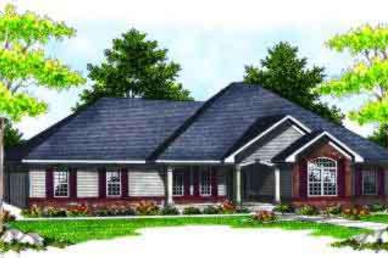 Traditional Exterior - Front Elevation Plan #70-611 - Houseplans.com