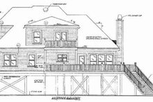 Beach Exterior - Rear Elevation Plan #37-174