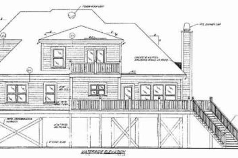 Beach Exterior - Rear Elevation Plan #37-174 - Houseplans.com