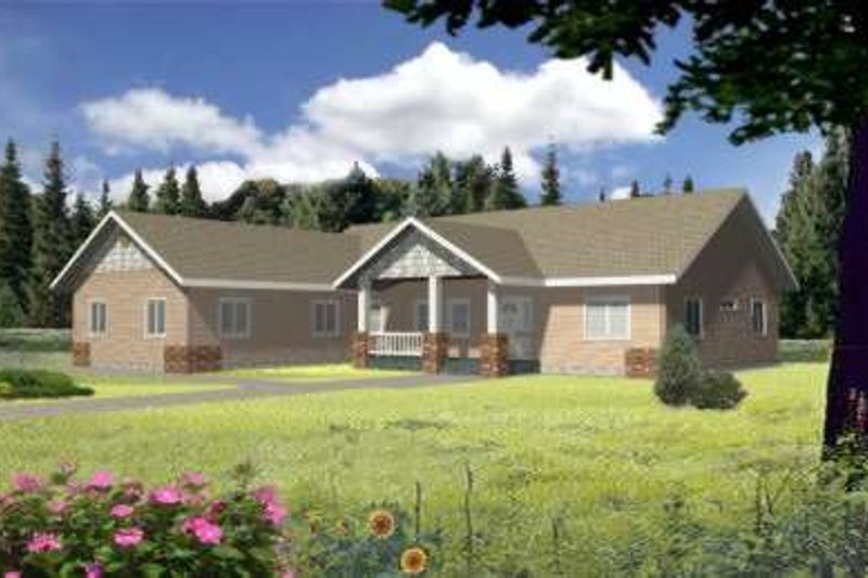 Traditional Exterior - Front Elevation Plan #117-364 - Houseplans.com