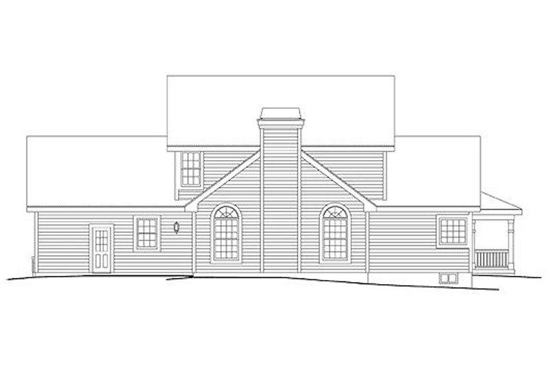 Traditional Exterior - Rear Elevation Plan #57-306 - Houseplans.com