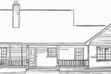 Country Exterior - Rear Elevation Plan #14-133