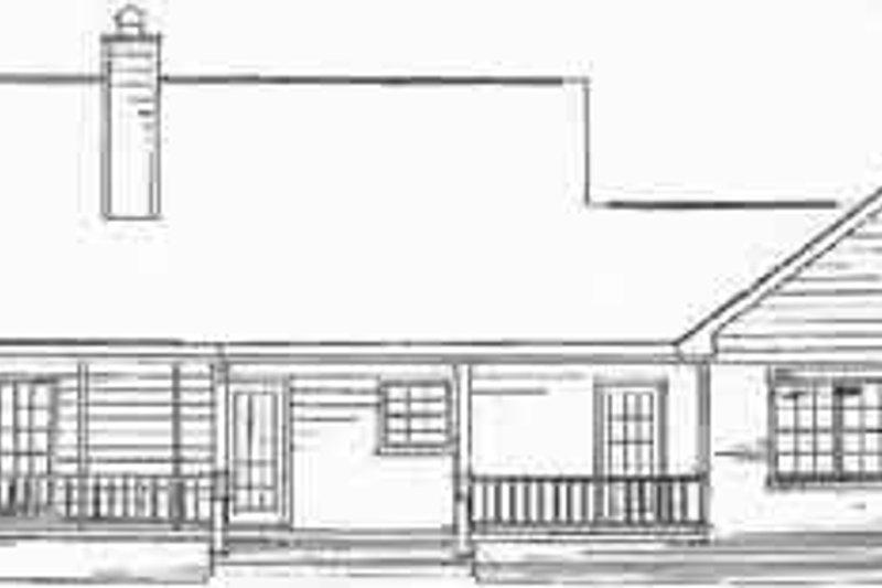 Country Exterior - Rear Elevation Plan #14-133 - Houseplans.com