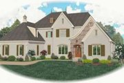 European Style House Plan - 4 Beds 4 Baths 4871 Sq/Ft Plan #81-1332 Exterior - Front Elevation