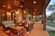 Ranch Style House Plan - 3 Beds 2.5 Baths 2693 Sq/Ft Plan #140-149 Exterior - Outdoor Living