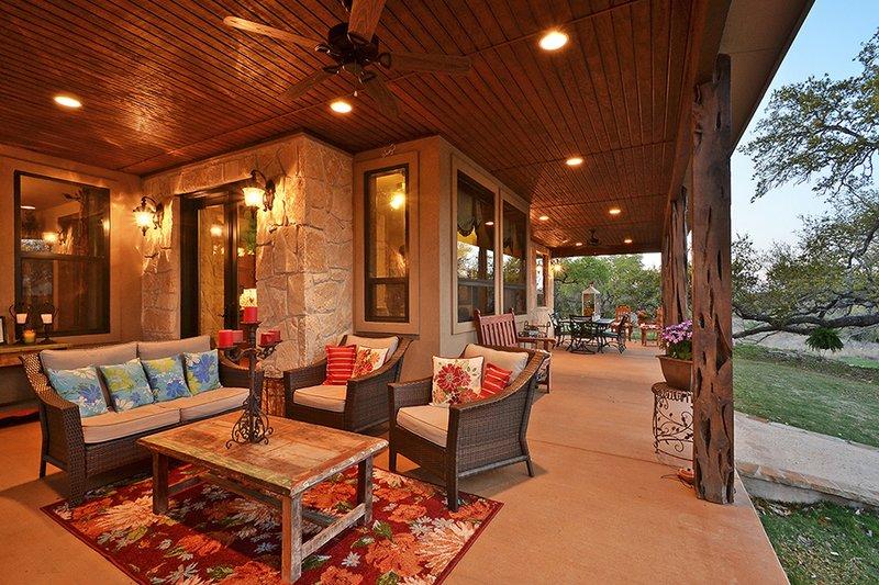Ranch Exterior - Outdoor Living Plan #140-149 - Houseplans.com