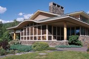 Prairie Style House Plan - 3 Beds 2.5 Baths 2979 Sq/Ft Plan #454-7 Exterior - Other Elevation