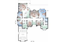 Mediterranean Floor Plan - Main Floor Plan Plan #23-788