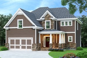 Craftsman Exterior - Front Elevation Plan #419-201