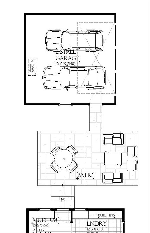 Dream House Plan - Garage/Breezway