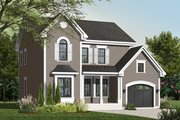 Farmhouse Style House Plan - 3 Beds 2.5 Baths 1824 Sq/Ft Plan #23-2257 Exterior - Front Elevation