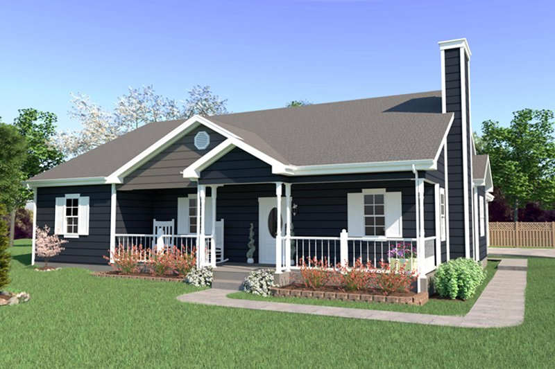 House Plan Design - Farmhouse Exterior - Front Elevation Plan #57-117