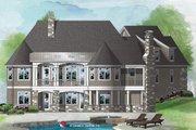 European Style House Plan - 4 Beds 4 Baths 2880 Sq/Ft Plan #929-1065 Exterior - Rear Elevation
