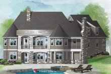 European Exterior - Rear Elevation Plan #929-1065