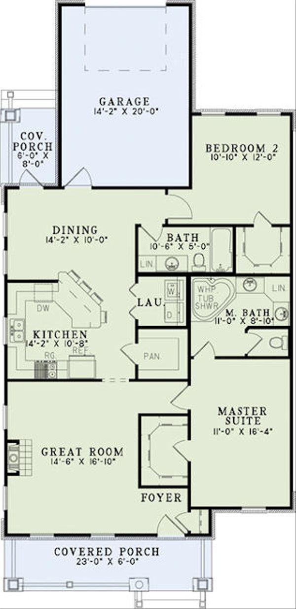 House Plan Design - Cottage Floor Plan - Main Floor Plan #17-2471
