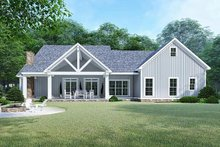 Country Exterior - Rear Elevation Plan #923-129