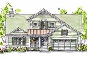 Traditional Style House Plan - 3 Beds 2 Baths 1724 Sq/Ft Plan #20-166 Exterior - Front Elevation