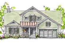 Home Plan - Traditional Exterior - Front Elevation Plan #20-166