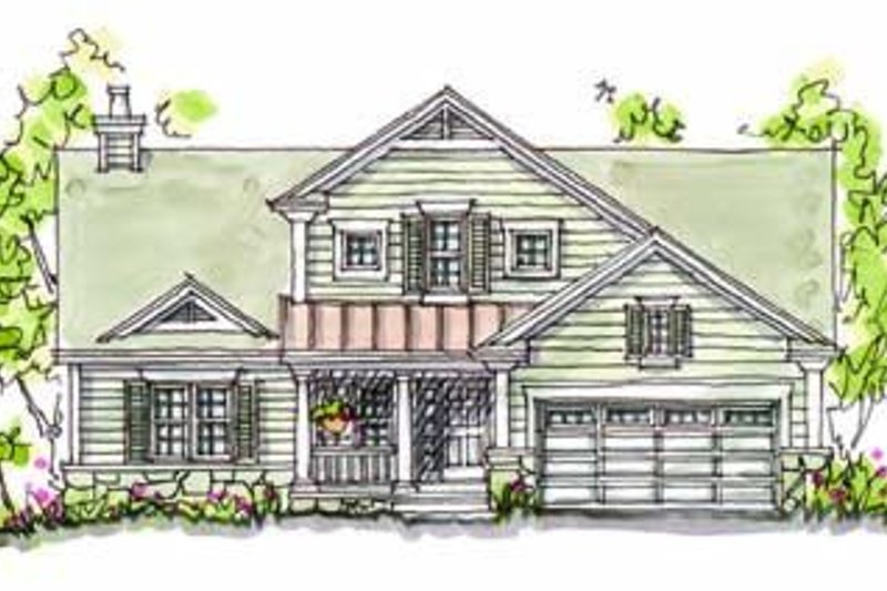 Traditional Exterior - Front Elevation Plan #20-166 - Houseplans.com