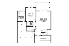 Cottage Floor Plan - Lower Floor Plan Plan #48-1018
