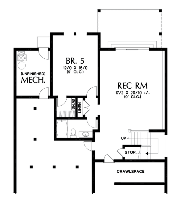 House Plan Design - Cottage Floor Plan - Lower Floor Plan #48-1018