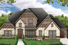 European Exterior - Front Elevation Plan #84-465