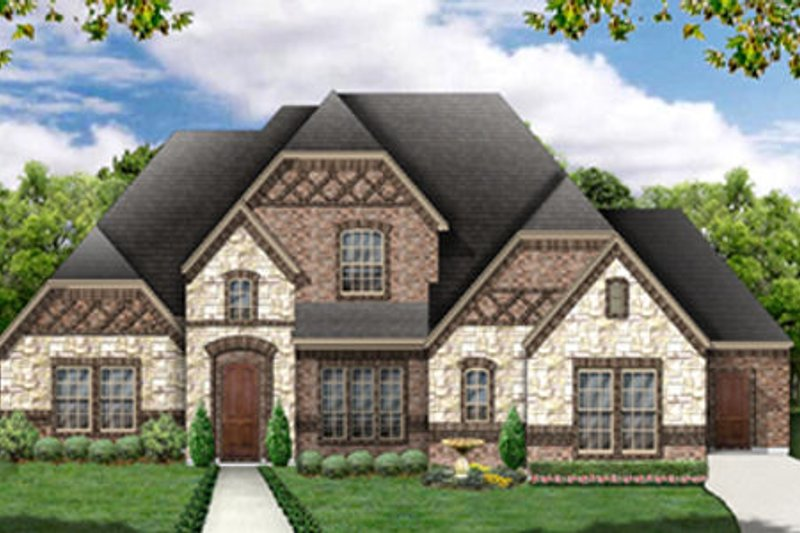 European Exterior - Front Elevation Plan #84-465 - Houseplans.com