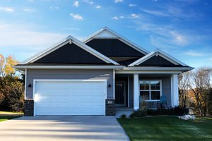 Ranch Exterior - Front Elevation Plan #70-1482