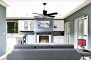 Farmhouse Style House Plan - 2 Beds 1 Baths 890 Sq/Ft Plan #44-222 Interior - Family Room