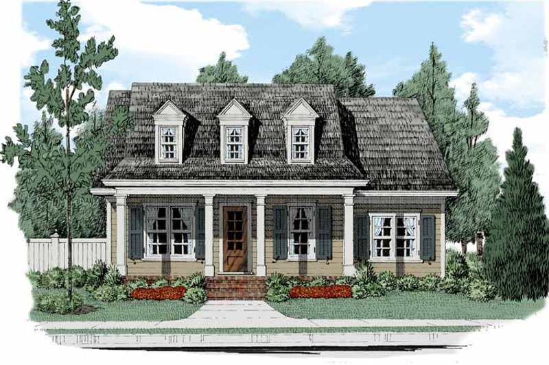 House Design - Colonial Exterior - Front Elevation Plan #927-512