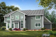 Dream House Plan - Country Exterior - Rear Elevation Plan #132-437