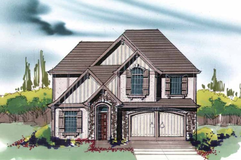 Traditional Exterior - Front Elevation Plan #509-343 - Houseplans.com