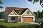Craftsman Style House Plan - 4 Beds 3.5 Baths 1989 Sq/Ft Plan #20-2398 Exterior - Front Elevation