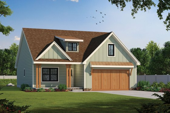 Home Plan - Craftsman Exterior - Front Elevation Plan #20-2398