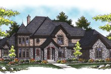 Dream House Plan - European Exterior - Front Elevation Plan #70-890