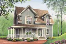 House Plan Design - Country Exterior - Other Elevation Plan #23-487