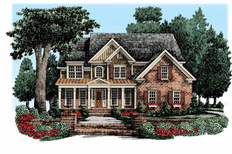 Traditional Exterior - Front Elevation Plan #927-340 - Houseplans.com