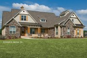 Craftsman Style House Plan - 4 Beds 4 Baths 2613 Sq/Ft Plan #929-905 Exterior - Front Elevation