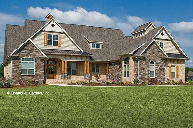 Architectural House Design - Craftsman Exterior - Front Elevation Plan #929-905