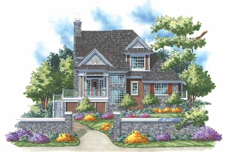Traditional Style House Plan - 3 Beds 2 Baths 1853 Sq/Ft Plan #930-157 Exterior - Front Elevation
