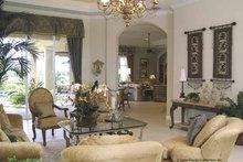 Architectural House Design - Mediterranean Interior - Family Room Plan #930-415