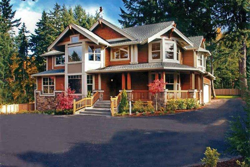 Dream House Plan - Craftsman Exterior - Front Elevation Plan #132-244