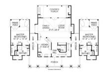 Craftsman Floor Plan - Main Floor Plan Plan #54-372
